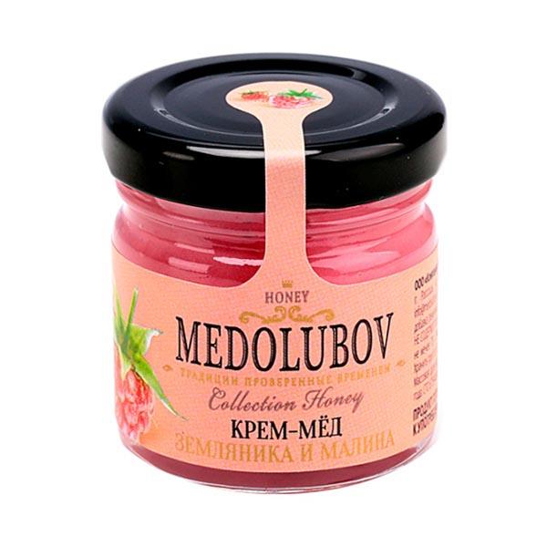 Крем-мёд Медолюбов малина-земляника, 40 мл